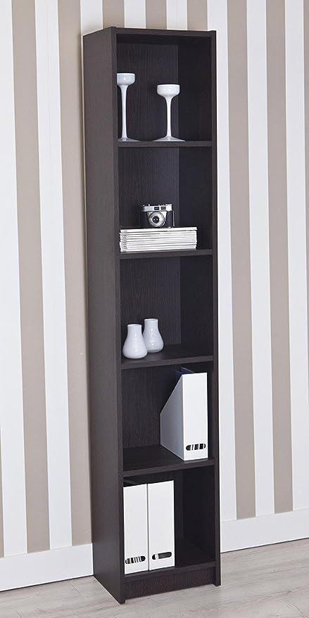 Topkit | Estantería Clásica Berlín 8002 | Medidas 40 x 203 x 29 cm | Estantería Libros | Estantería Decorativa | Wengue