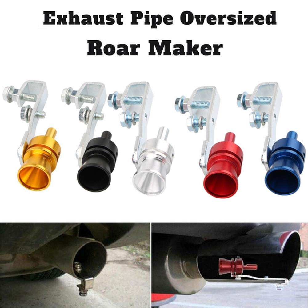Ohwens Exhaust Tubing Pipe,Exhaust Pipe Oversized Roar Maker Simulator Car Sound Whistle Durable Accessory