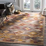 Safavieh Canyon Collection CNY115B Brown and Multi Southwestern Bohemian Area Rug (8′ x 10′) Review