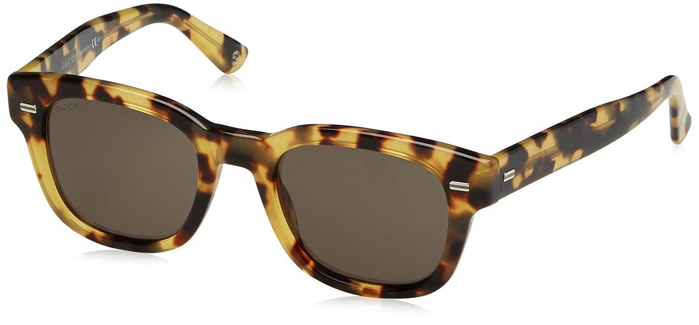 Gucci Herren Sonnenbrille Braun Havana 50: Amazon.de: Bekleidung