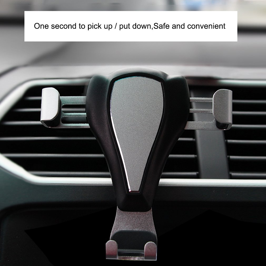 GOOFIT Gravity Phone Mount,Car Phone Holder,Universal Air Vent Cell Phone Stand Holder for iPhone X//8//7//6//5,Samsung Galaxy S9//S8//S7//S6,Google,LG,Huawei,other Smartphones