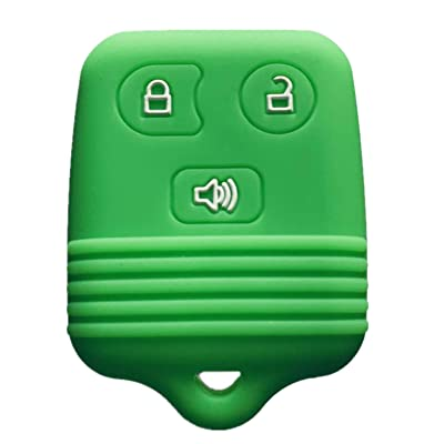 Rpkey Silicone Keyless Entry Remote Control Key Fob Cover Case protector For Ford Lincoln Mercury Mazda CWTWB1U331 GQ43VT11T CWTWB1U345 8L3Z15K601B 8L-3Z-15K-601B(green): Automotive