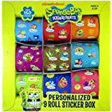Spongebob Sticker Rolls - Spongebob Rolled Sticker Box (9Rolls)