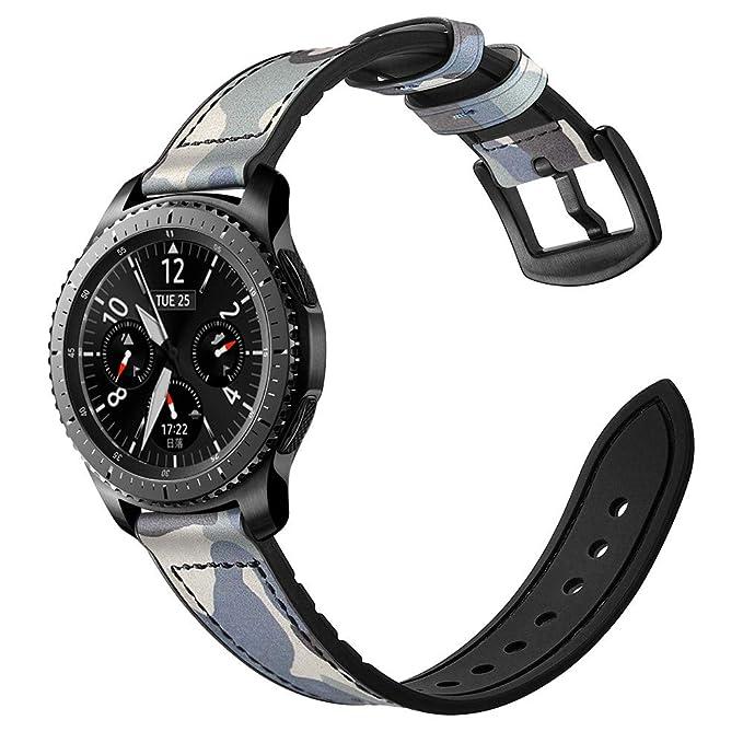 Saying - Correa de Reloj de Piel para Gear S3 Frontier ...