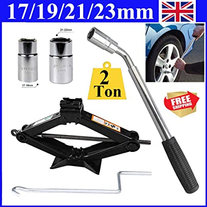 Travel Emergency Breakdown 17mm 19mm 21mm 23mm Socket Extending Wheel Wrench
