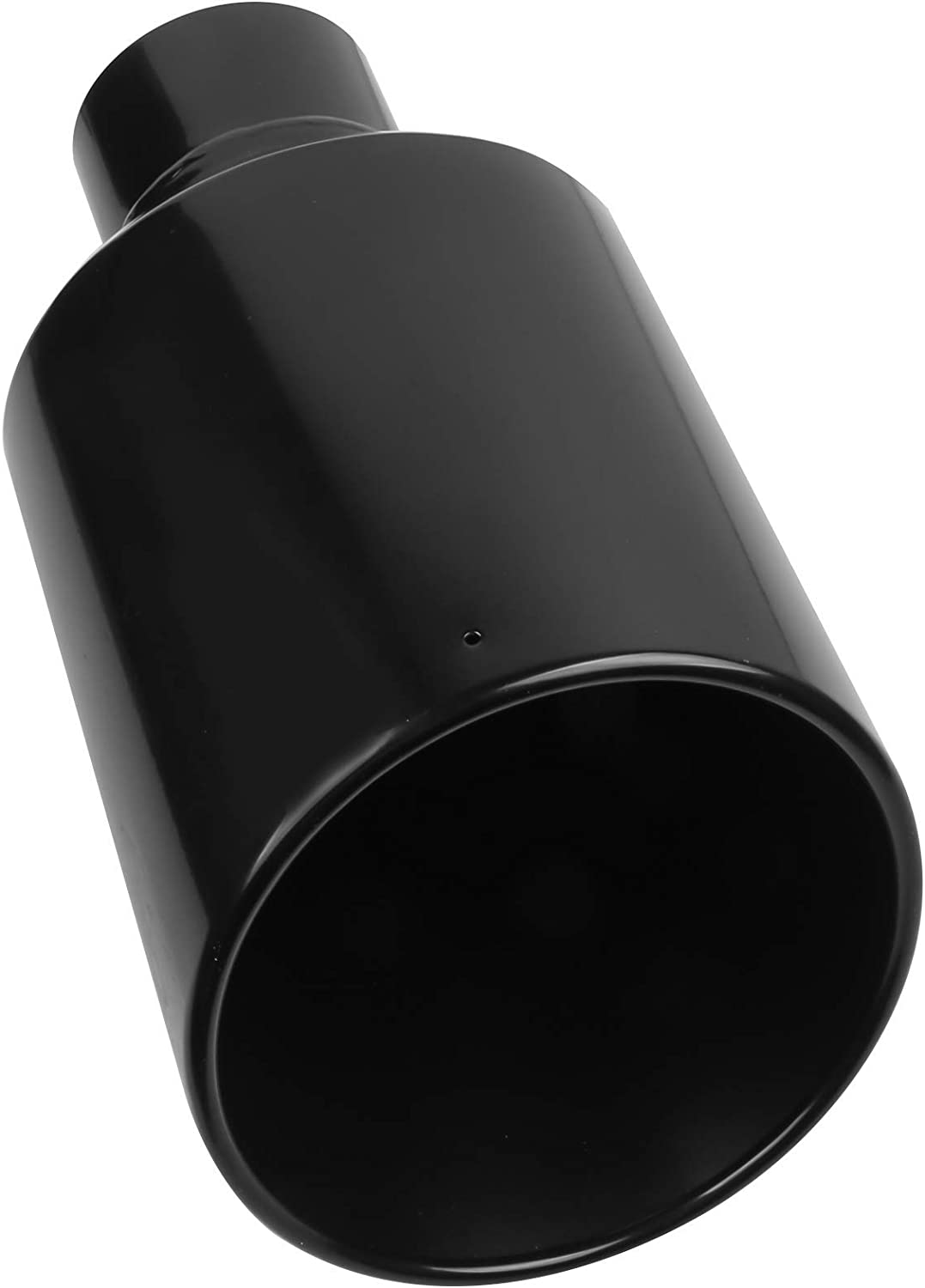 MOSTPLUS Truck Diesel Exhaust Tip Black Stainless Steel Tailpipe Tip 4 Inlet; 8 Outlet; 15 Length