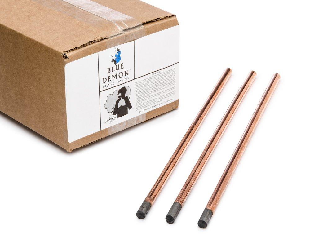 Blue Demon ACGE-CC X 5/32'' X 12'' Copper Coated Gouging Carbon, 100-Piece