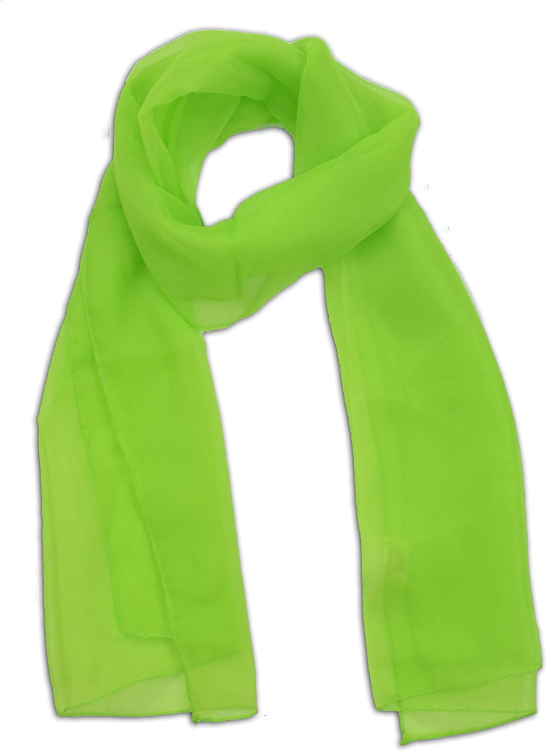 LJL Design Chiffon Scarf Oblong (Lime) at  Women's Clothing store: Fashion Scarves