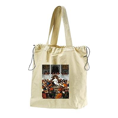 12 Yr Old Christ Teaching (Mazzolino) Canvas Drawstring Beach Tote Bag
