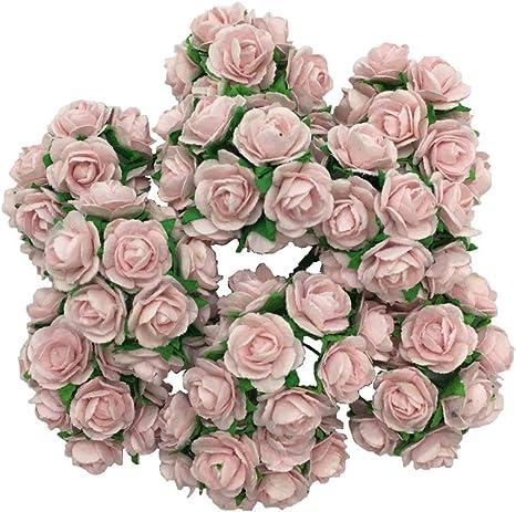 Multi colour Paper Tea Roses Flowers Card Crafts Embellishment Weddings Favours