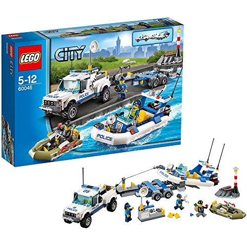 LEGO® CITY® Police Patrol w/ Two Floating Dinghys, Truck and Trailer | 60045