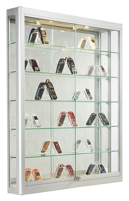 Amazoncom Silver Aluminum Glass Display Case 39 12 X 47 14 X 6