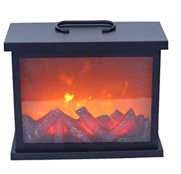 Buy Kasturi Artificial Led Fireplace With Realistic Log Wood Burning Flame Simulation Effect Usb Operated Portable Tabletop Fire Flame Light For Indoor Outdoor Decoration Online At Low Prices In India Amazon In
