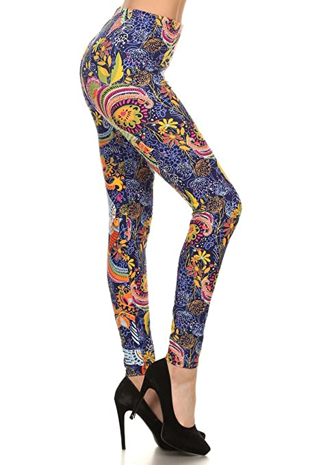 Leggings Depot Women's Pemium Quality Ultra Soft Printed Fashion