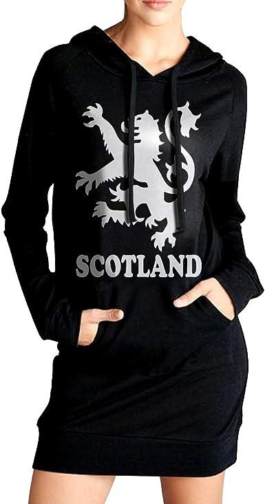 American Grown Scotland Roots Coat with Kanga Pocket ADA/&KGH Womens Sports Sweatshirt Long Hoodies Dress