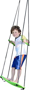 """Swurfer Kick Stand Up Surfing Tree Swing Outdoor Swings for Kids Up to 150 Lbs - Hang from Up to 10 Feet High - Includes 24"""" SwingBoard, UV Resistant Rope, & Handles"""