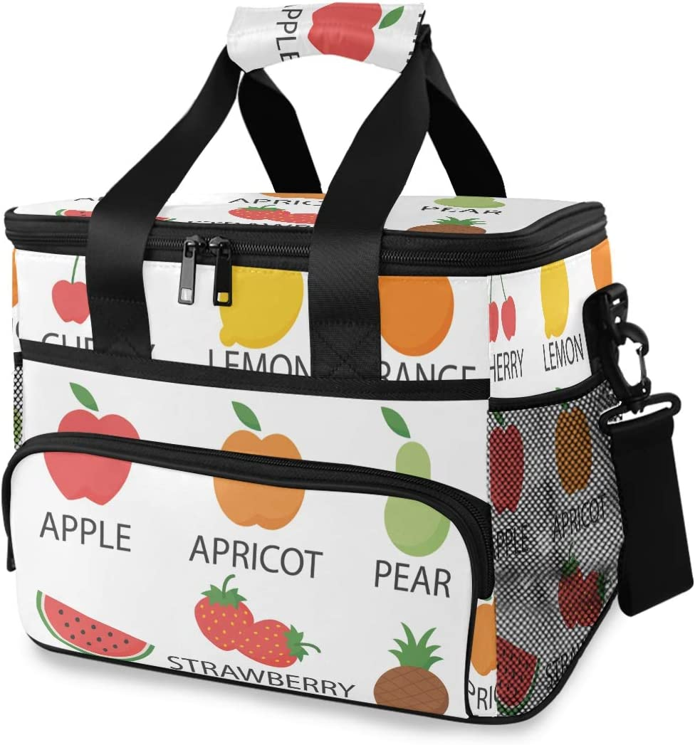 lunch bag traditional insulated lunch bag green lunch bag pears picnic apples limes kids lunch bag food bag food Fun Lunch Bag