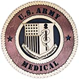 Laser Engraved, Personalized WT449 Army Medical Regimental Wall Plaque