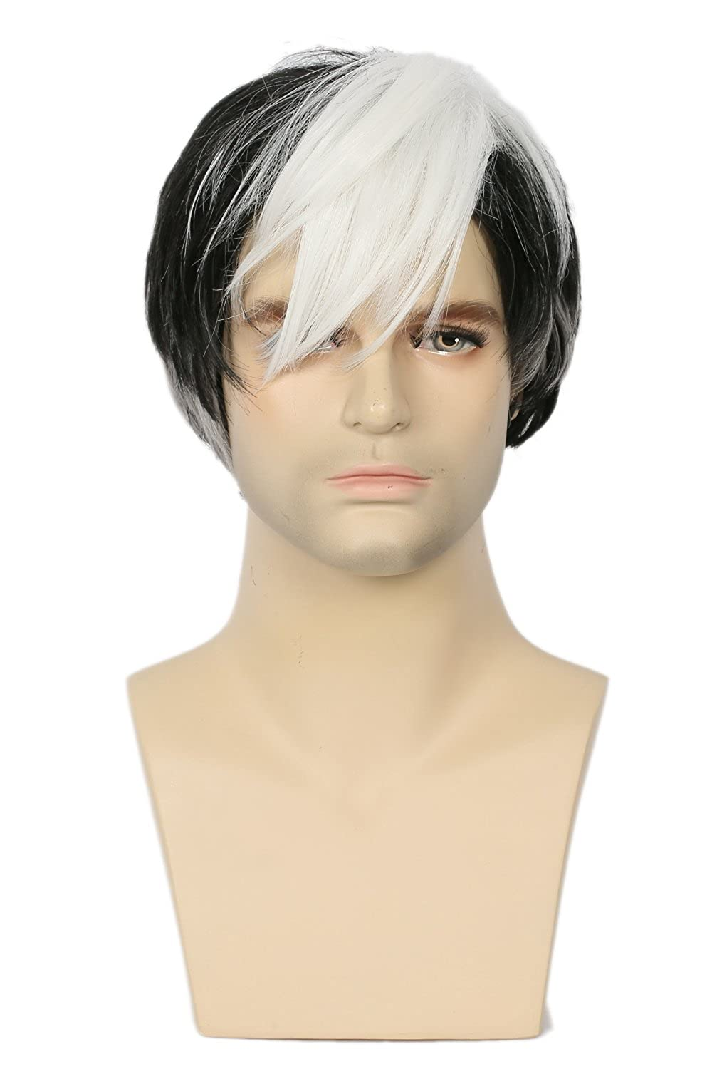 Amazon.com: Shiro Wig Cosplay Voltron Costume Black White Hair Anime Accessories Props Honor: Clothing