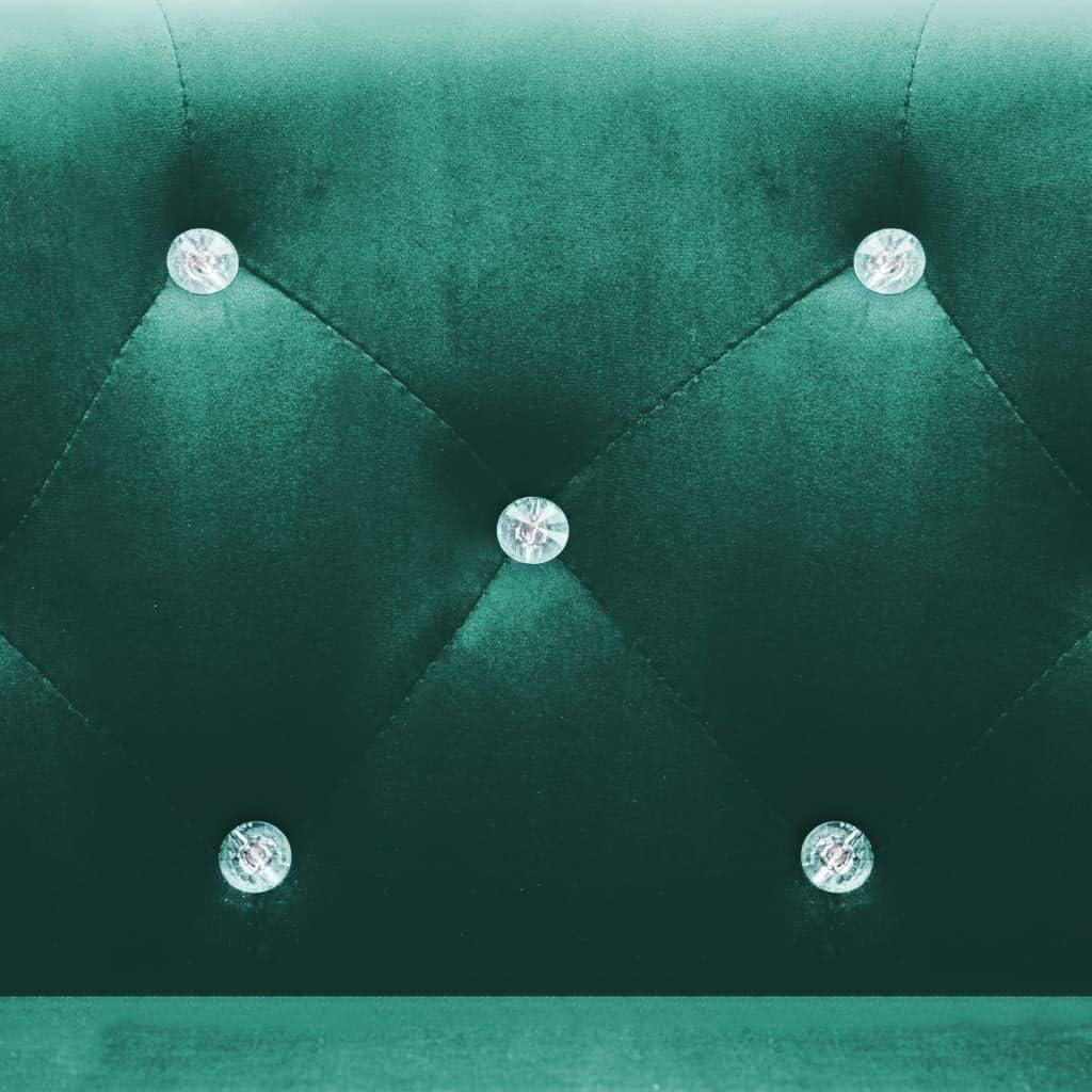 vidaXL Fauteuil avec Revêtement en Velours Noir Salon Salle de Séjour Canapé Vert