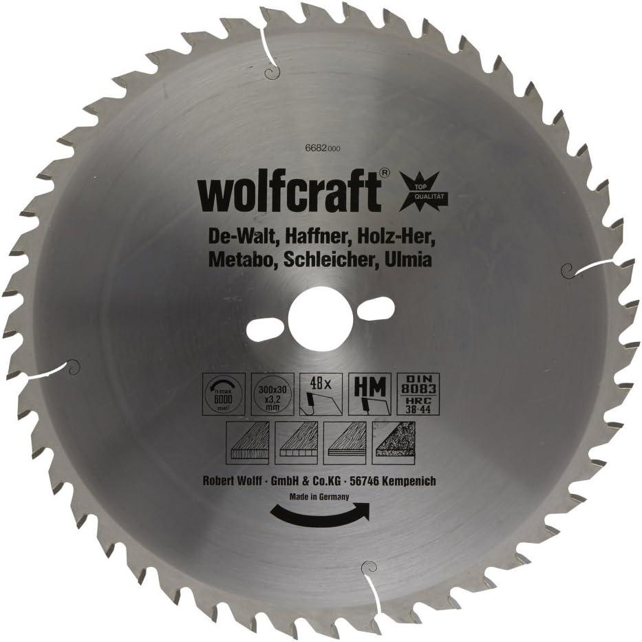 42 dient Serie Naranja diam Wolfcraft 6680000 6680000-1 Hoja de Sierra Circular HM 250 x 30 x 3,2 mm