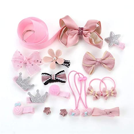 Assortiti Pink Princess Headwear 18pcs Accessori Per Capelli Set