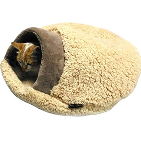 LyhomeO - Cueva de Peluche para Mascotas, casa y sofá, Cama para Gatos,