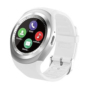 Reloj Inteligente Smartwatch Redondo con Podómetro de Pantalla Táctil con Ranura para Tarjeta SIM para Samsung LG HTC Sony xiaomi Google Huawei ...