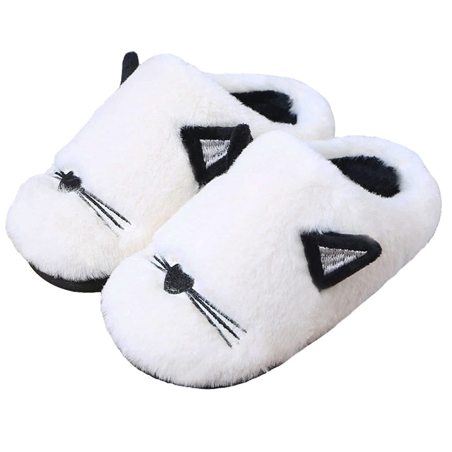 Cwait Animal Cat Cute Slippers House Bedroom Slipper Toddler