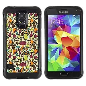 """Pulsar iFace Series Tpu silicona Carcasa Funda Case para Samsung Galaxy S5 V , Setas colorido Bosque Fondos de Arte de Alimentos"""""""