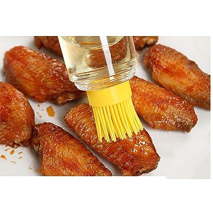 Práctico MMRM miel aceite salsa de vino botella con pincel de silicona para molde de horno