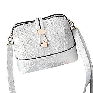 Amazon.com   AENMIL Creative Front Lock Decor Messenger Crossbody Bags e357929f9a8cf