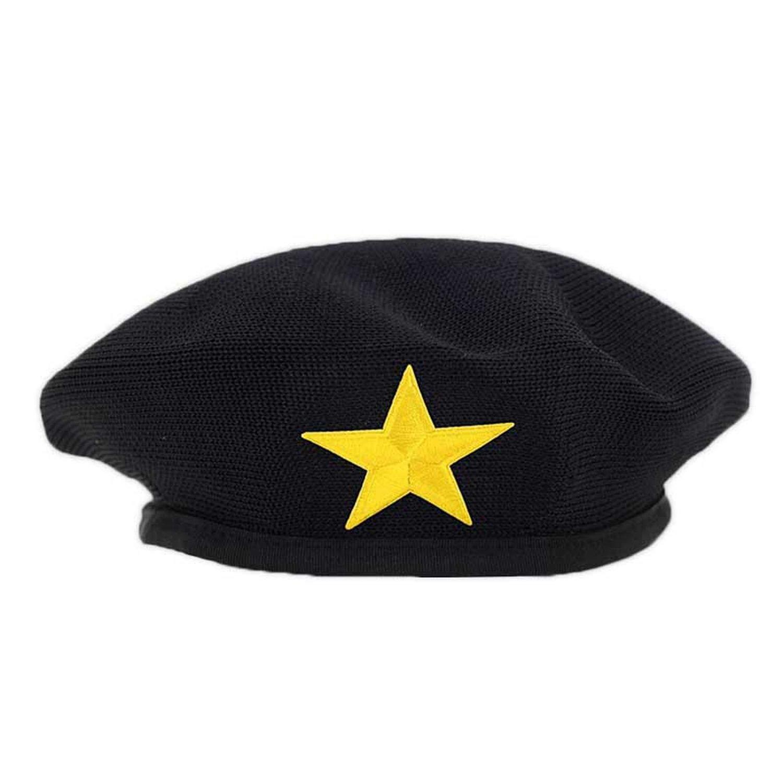 Moktasp Sailor Dance Performance Hats for Kids Adult Men Women Berets Star Emblem Sailors Hat Adult Child Caps