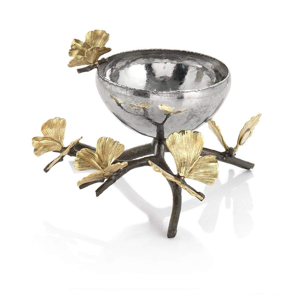 Michael Aram Butterfly Ginkgo Nut Dish by Michael Aram  Oxidized, Natural Bronze, Stainless Steel B00ILRIKKQ