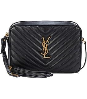 ba50f219480 Amazon.com: France YSL Women's Lou leather shoulder bag: brownnrio