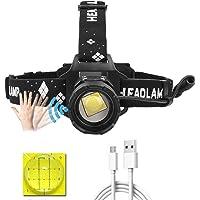 LUXJUMPER XHP99 Led-hoofdlamp, oplaadbaar, 10000 lumen, superheldere koplamp-bewegingssensor, 5 modi, hoofdlamp…