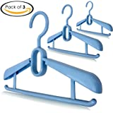 Royal Cloak Cascading Blue Baby Clothes Hangers, Great Closet Organizer & Nursery Storage for Small Spaces