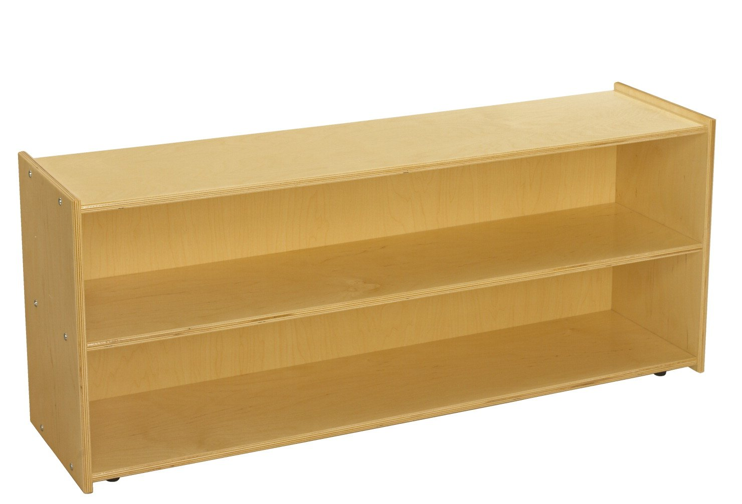 Childcraft ABC Furnishings 2-Shelf Storage Unit, 48 W x 13 D x 20 H in