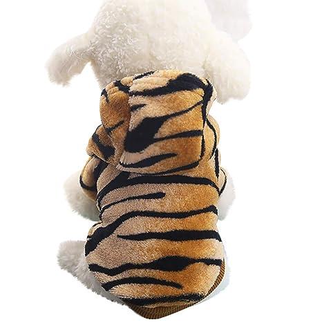 Ropa para Mascotas Gusspower Sudadera con Capucha Estampado de Tigre suéter Perrito Ropa de Invierno Abrigo