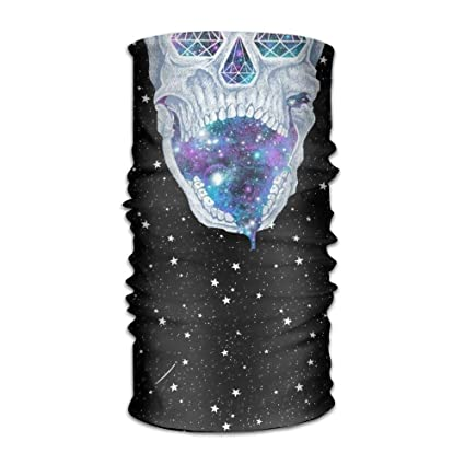 Shower Curtain Pillow Space Skull Print Seamless Face Mask BandanasSki MaskBalaclava Motorcycle