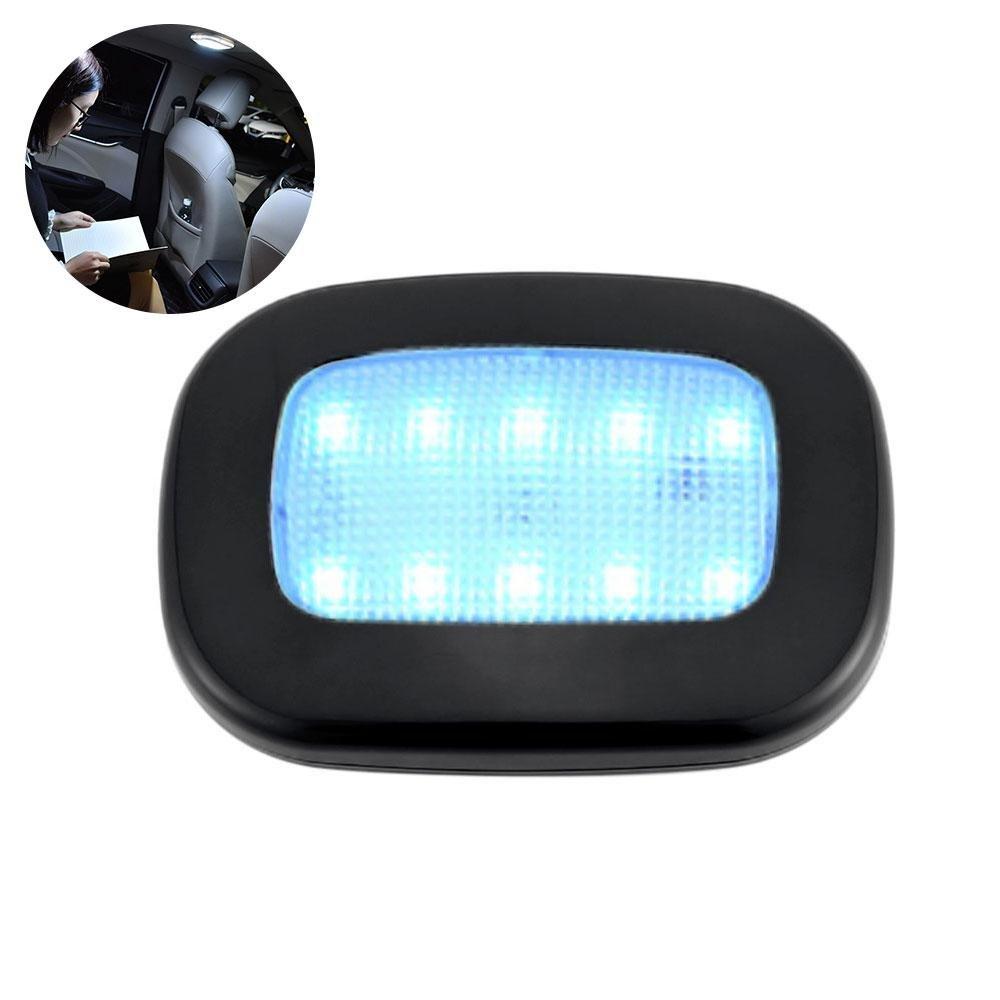 Pawaca auto tetto soffitto interno, wireless LED luce di lettura con magnetico succhiare per auto universale USB batteria auto della luce bagagliaio, Beige, Ice Blue