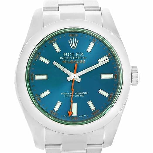 Rolex Milgauss 116400 - Reloj automático para hombre (certificado de autenticidad)