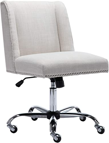 Chairus Home Office Chair Linen Upholstered Desk Task Chair