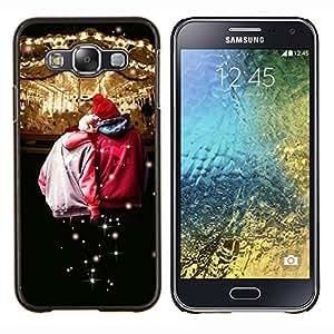 For Samsung Galaxy E5 E500 Case , Diseño Circues Amigos- Diseño Patrón Teléfono Caso Cubierta Case Bumper Duro Protección Case Cover Funda