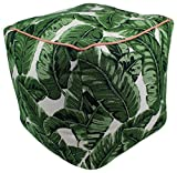 Lava Polyester Ottomans 47094-999 Tropics Jungle Pouf 17X17 Poufs/Outdoor Pouf 17 X 5 X 17 Inches Multicolored