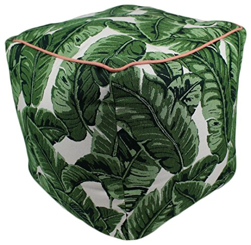 Lava Polyester Ottomans 47094-999 Tropics Jungle Pouf 17X17 Poufs/Outdoor Pouf 17 X 5 X 17 Inches Multicolored by Lava