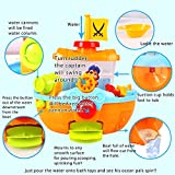 Sealive Bath Time Toys Pirate Ship For Toddlers Kids with Water Cannon and Boat Scoopfor(sand and water playsets),6 months u p