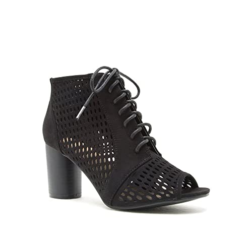 Womens CYLINDER-01 Peep Ankle Booties