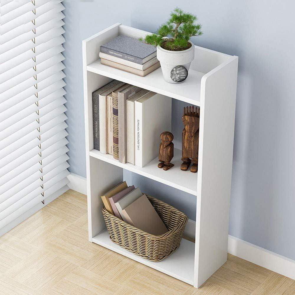 Amazon Com M Kvfa Small Bookcase Simple Floor Bedroom Shelf 3 Tier Wood Storage Shelf Free Combination Bookshelf Organizer Home Office Decor Kitchen Dining