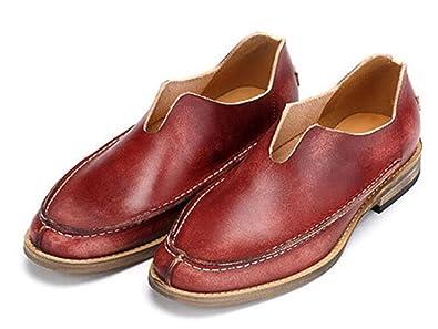 6cc92fd938f405 Männer Freizeitschuhe Frühling Einzelne Schuhe Atmungsaktiv Vintage  Lederschuhe
